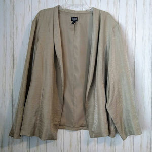 Eileen Fisher Woman Size 3X Shimmery Blazer Jacket